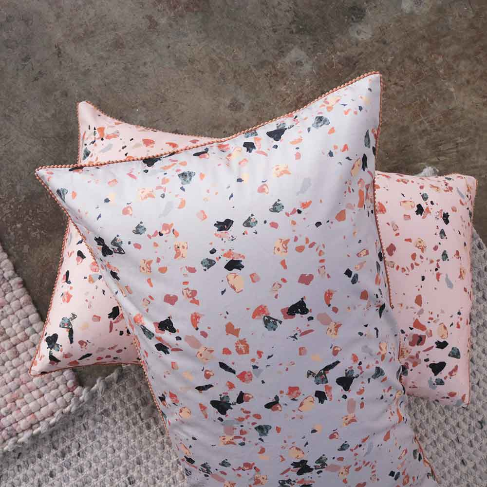 Rosetta Quilt Cover | Terrazzo Printed | Limited Edition | The Sheet Society