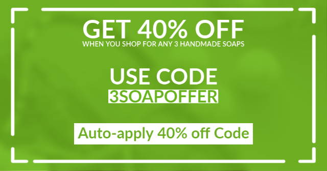 Get 40% off on Handmade Soaps