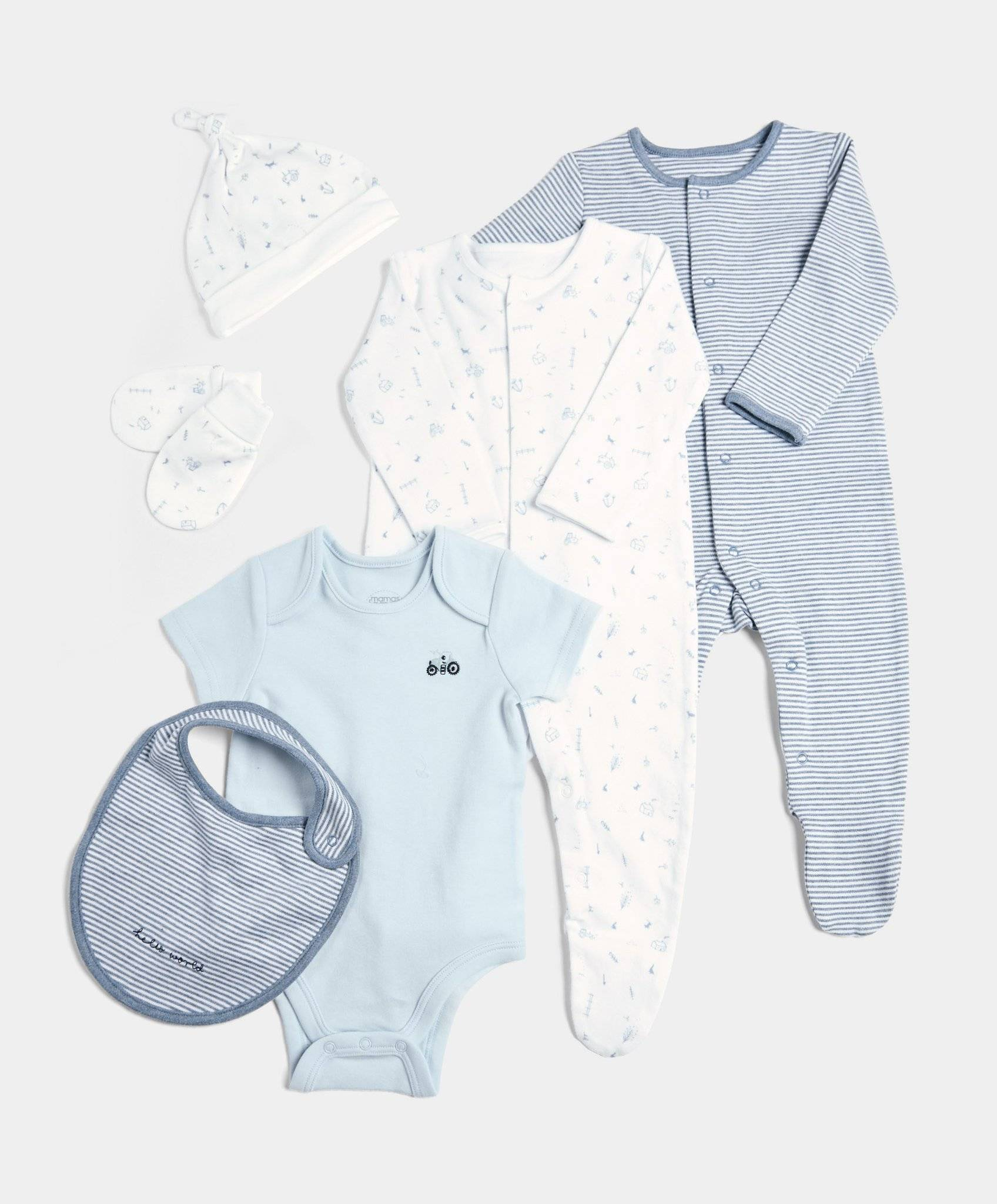 6 Piece Set Blue