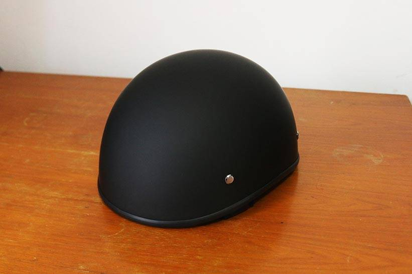 a brand new lo-profile helmet in flat black