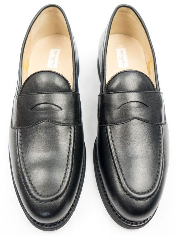 Black Collection Men's Black Vegan Leather Loafers - Will's | Ecoture