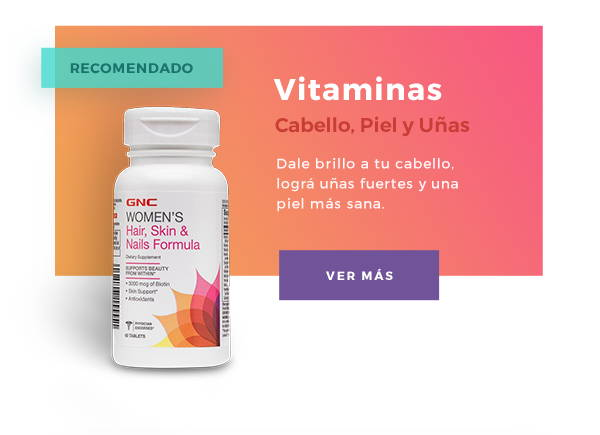 GNC vitamina cabello piel uñas biotina
