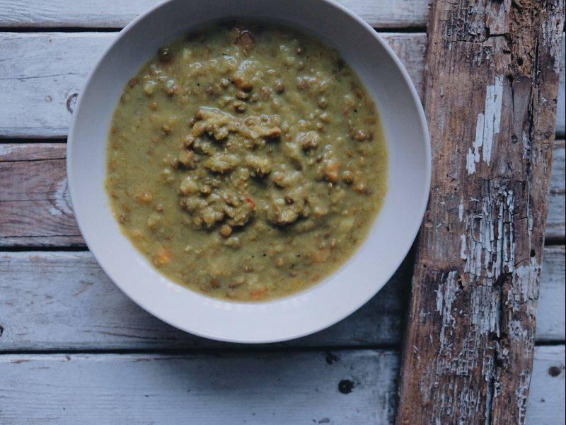 soupe verte de légumes au khale la boite du chef