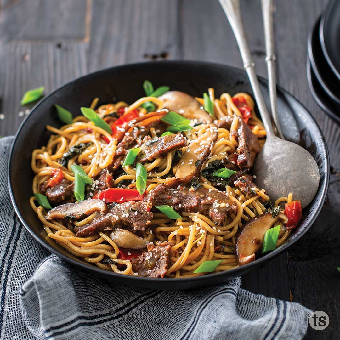 bayou bourbon beef & noodles