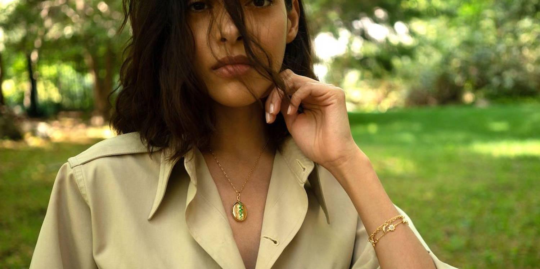 Birthstone locket necklace