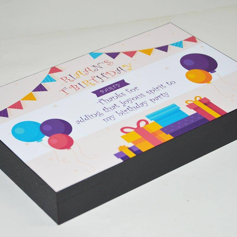 customised box designs for birthday return gifts