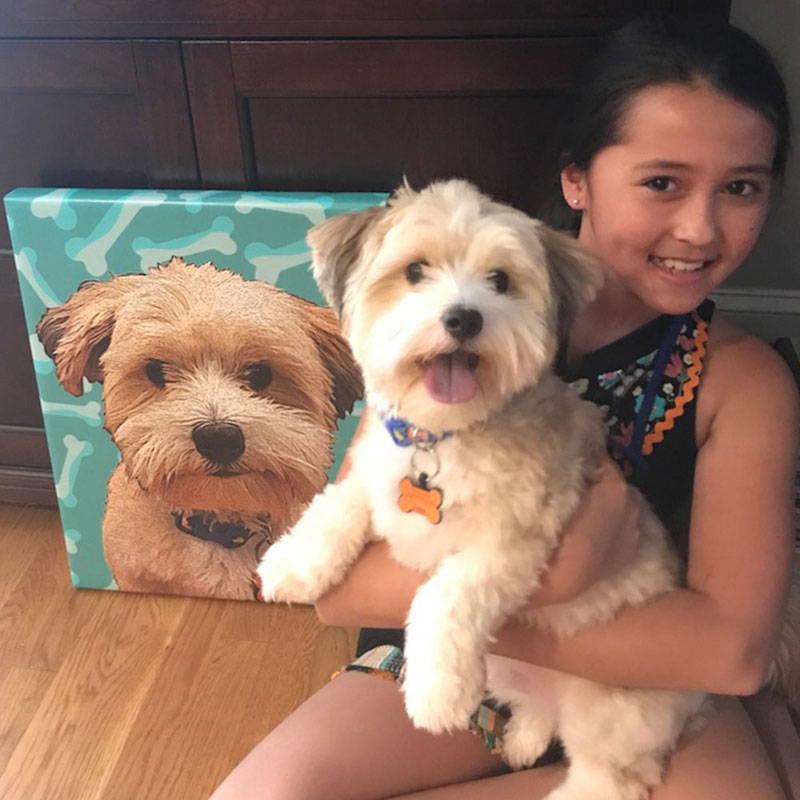 dog portrait - goldendoodle