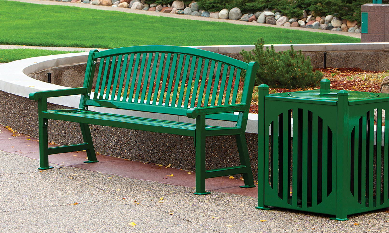 Park Amenities | Park Benches, Trash Receptacles, Picnic Tables & More