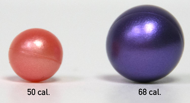 paintball sizes
