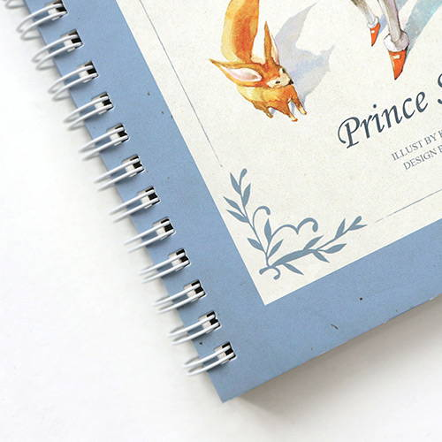 Twin-wire binding - Little prince story spiral undated monthly diary notebook