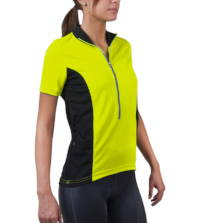 Women's specific cycling jersey safety yellow