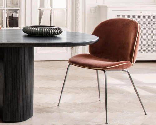 GUBI Beetle Velvet Dining Chair