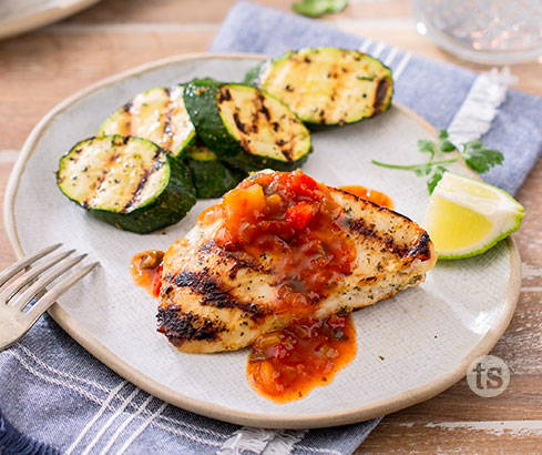 Si Si Grilled Chicken with Mango Salsa