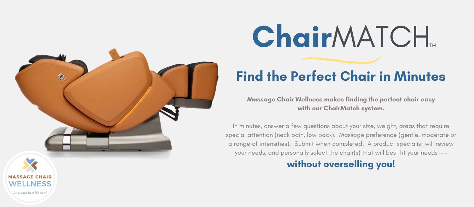 Help Me Find My Massage Chair Match
