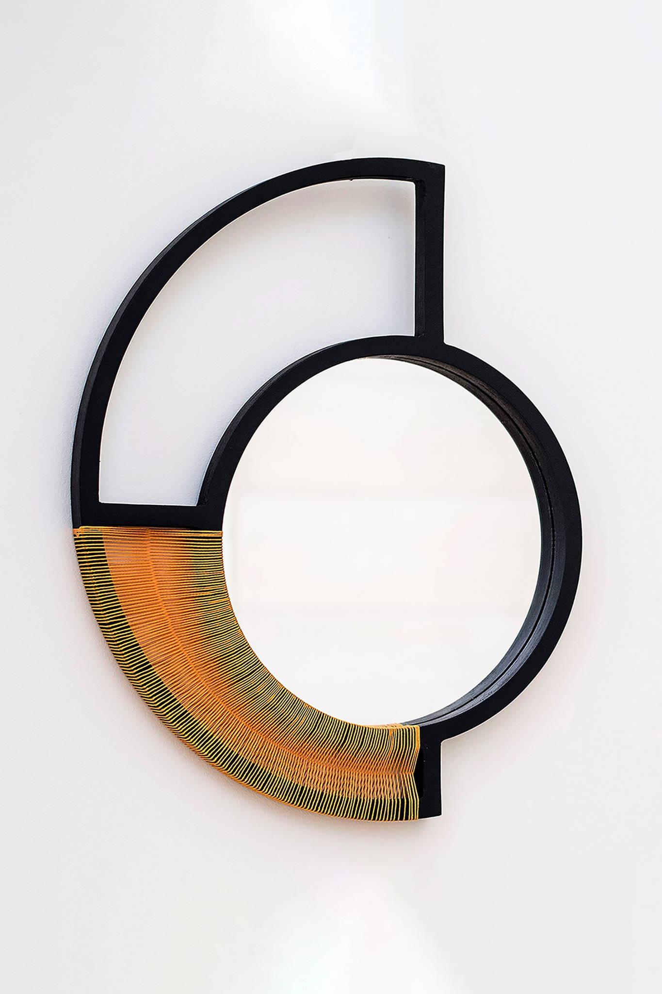 WOVEN MIRROR ARTWORK - YELLOW $ 275