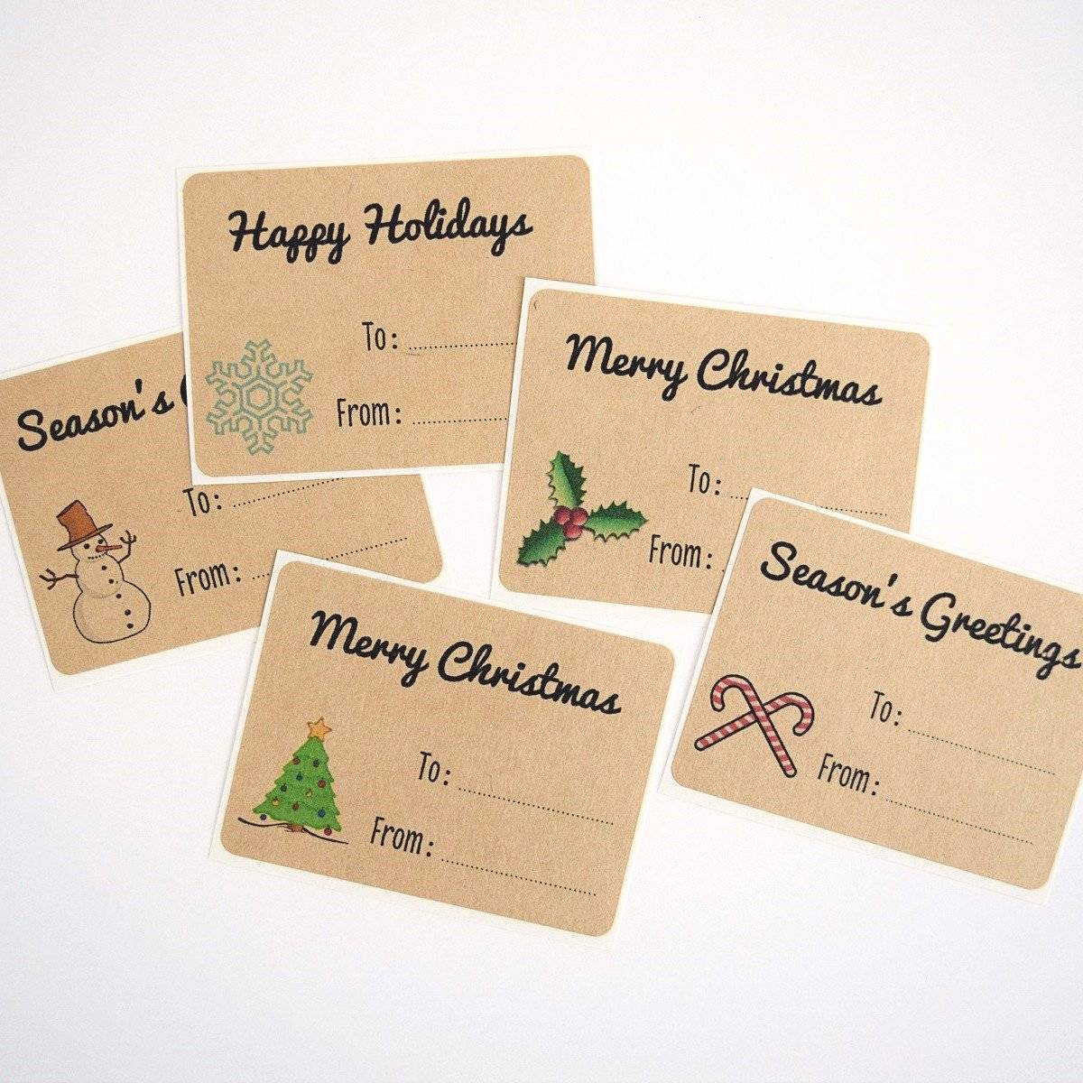 rectangle christmas gift labels