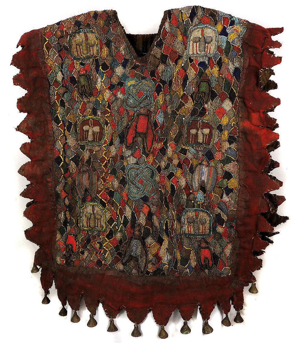 Antique Costume African Beaded Textile Museum Masterpiece