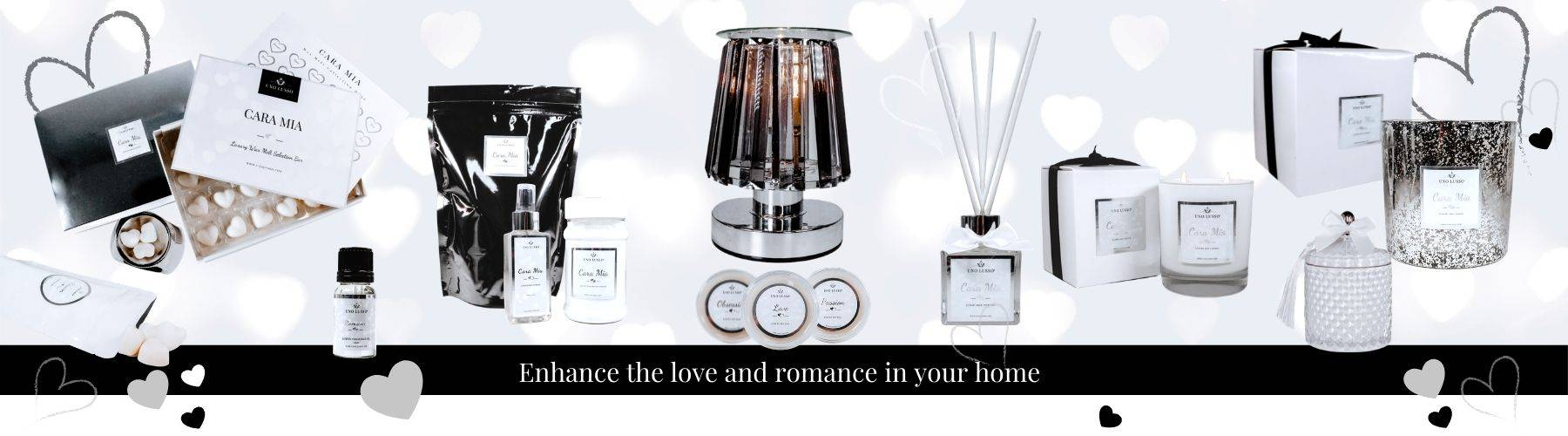 Cara  Mia - The love & romance home fragrance collection of candles, wax melts, room sprays, reed diffusers and more