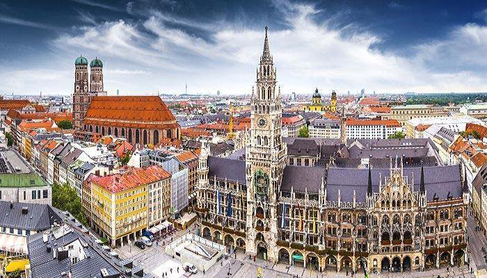 City in Germany with old buildings