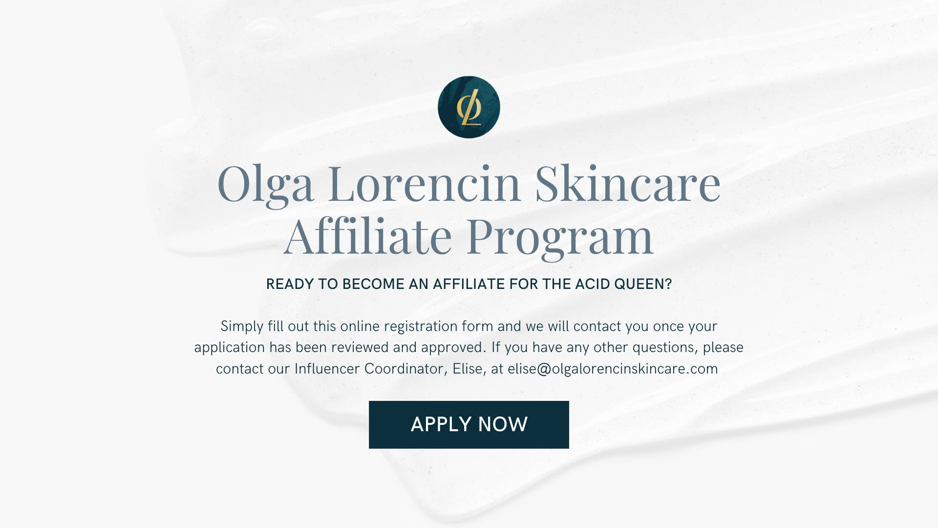 Olga Lorencin Skincare Affiliate Program Join Now