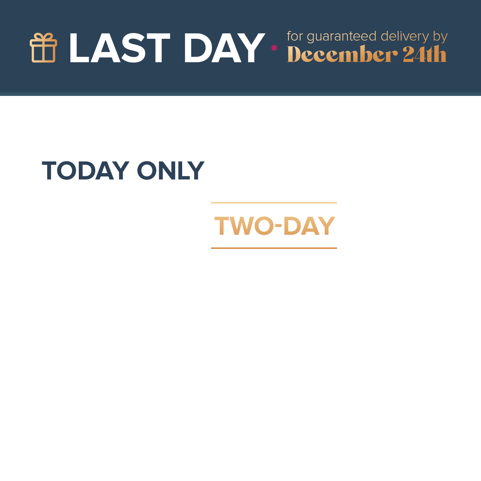 free two day shipping sale