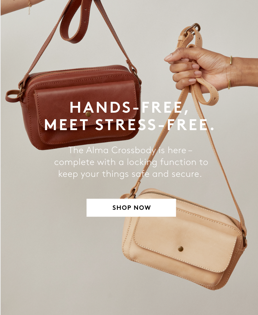 hands free meet stress free shop the alma crossbody