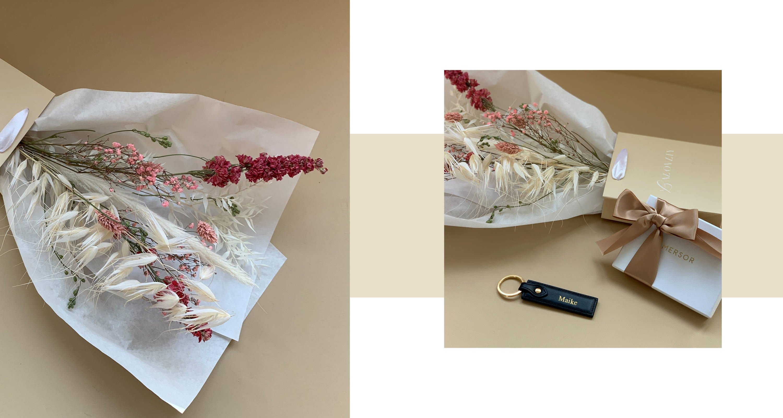 Lalovliy x MERSOR Geschenkset | Accessoires & Trockenblumen