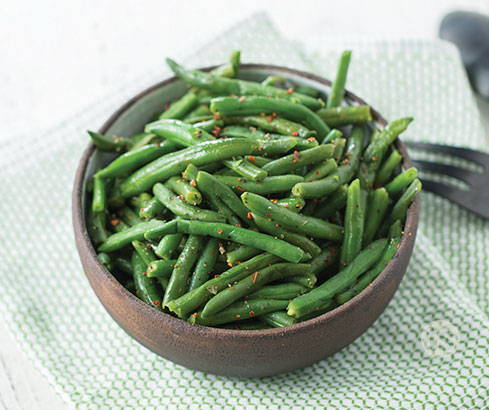 peppery green beans
