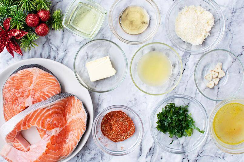 Keto Salmon Parmigiano Ingredienti
