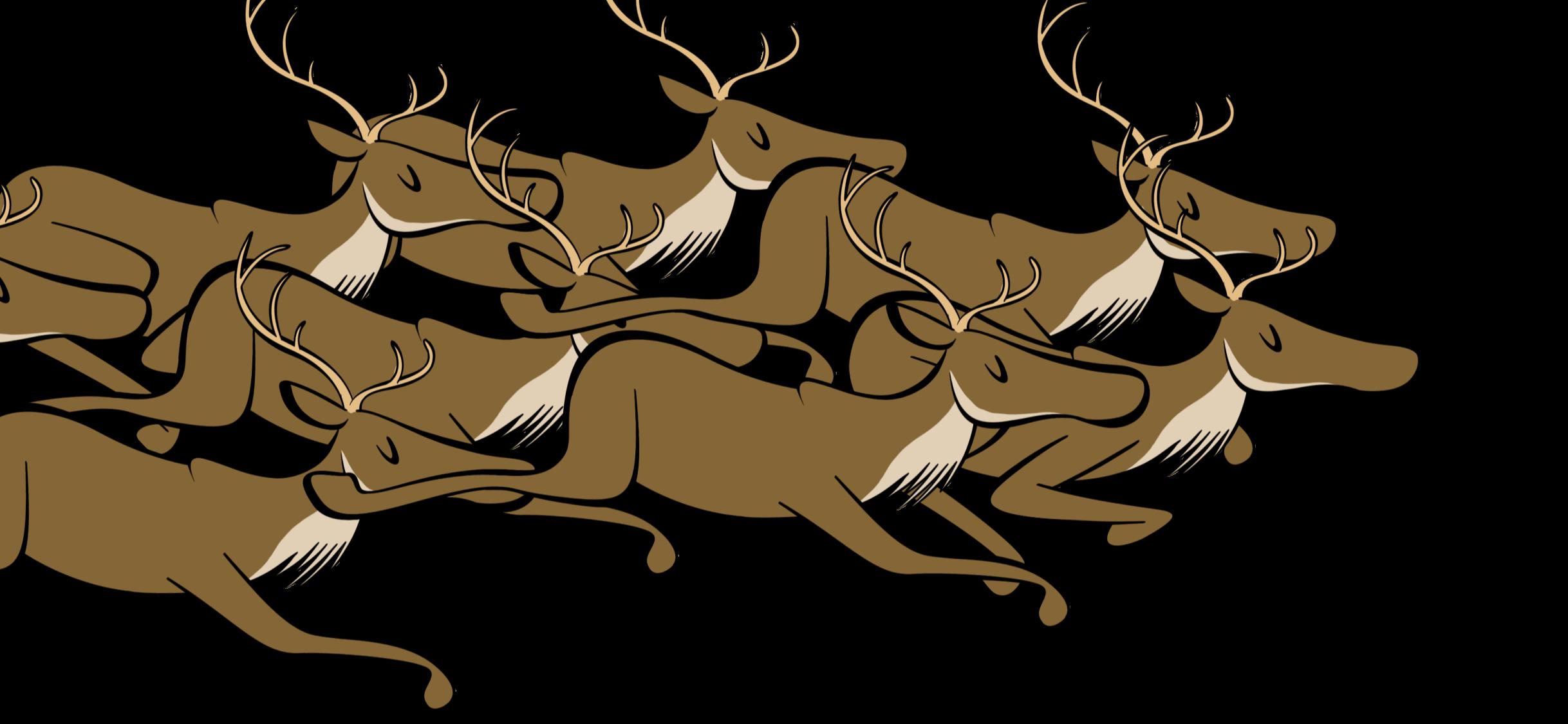 illustrated reindeer