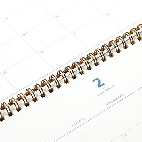 2020 Dual dated monthly desk planner scheduler
