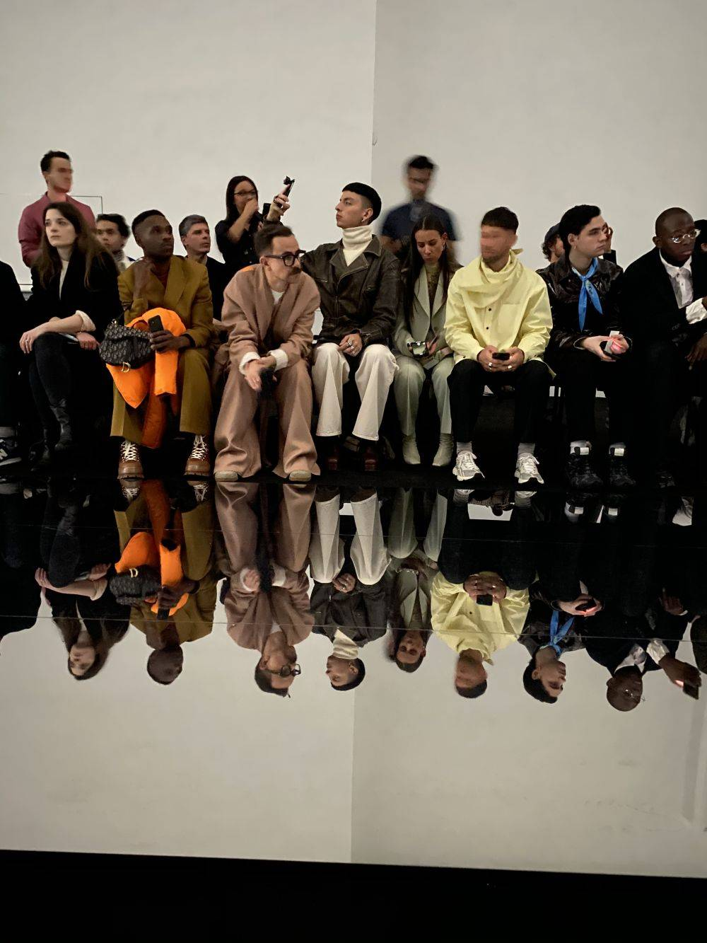 The front row at the Dunhill AW20 menswear catwalk show