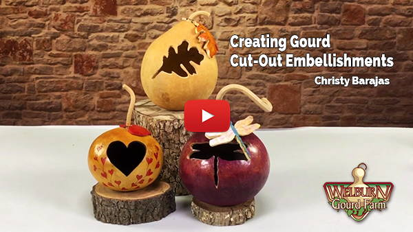 Creating Gourd Cut-Out Embellishments
