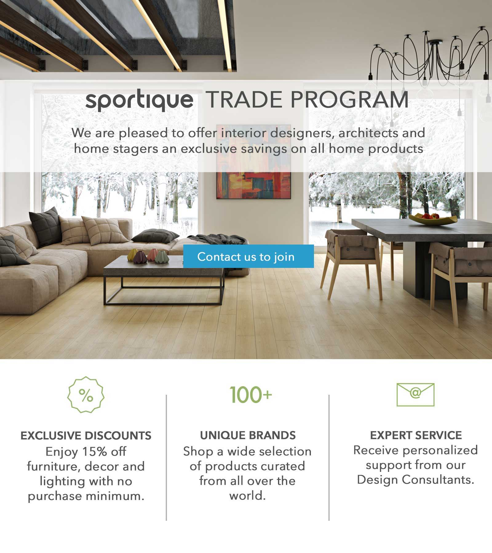 Sportique Trade Program For Interior