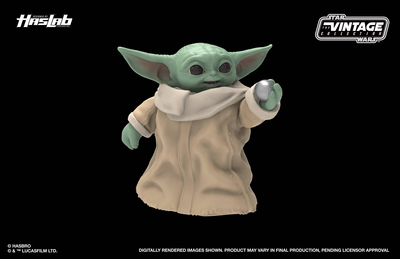 Baby Yoda with shiny ball.