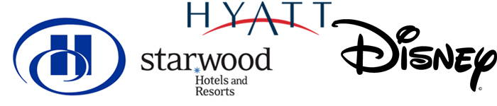 Disney, Hyatt Hotels, Hilton Worldwide, Starwood Hotels & Resorts Worldwide