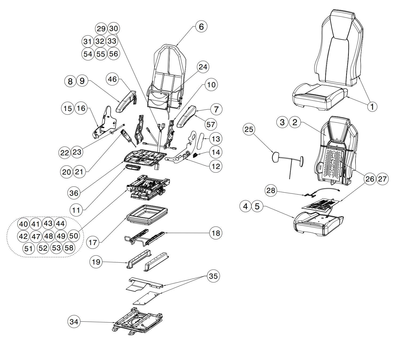 Kenworth 703 OEM Seat Assembly