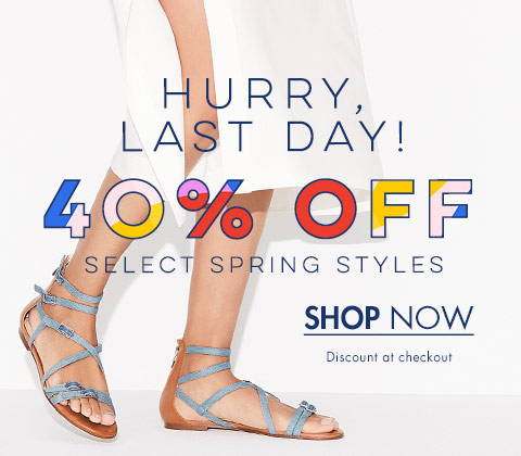 40% Off Spring Styles