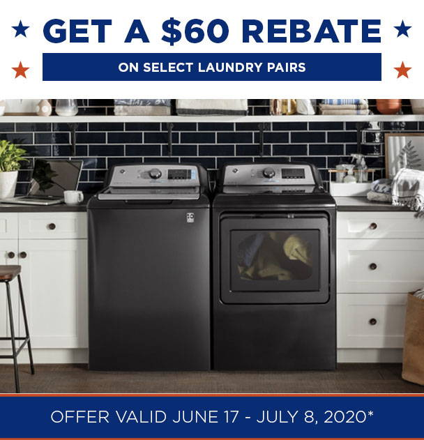 GET A $60 rebate on select laundry pairs
