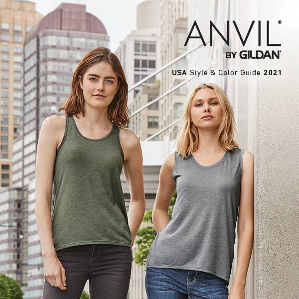 ANVIL® by Gildan® Style & Color Guide