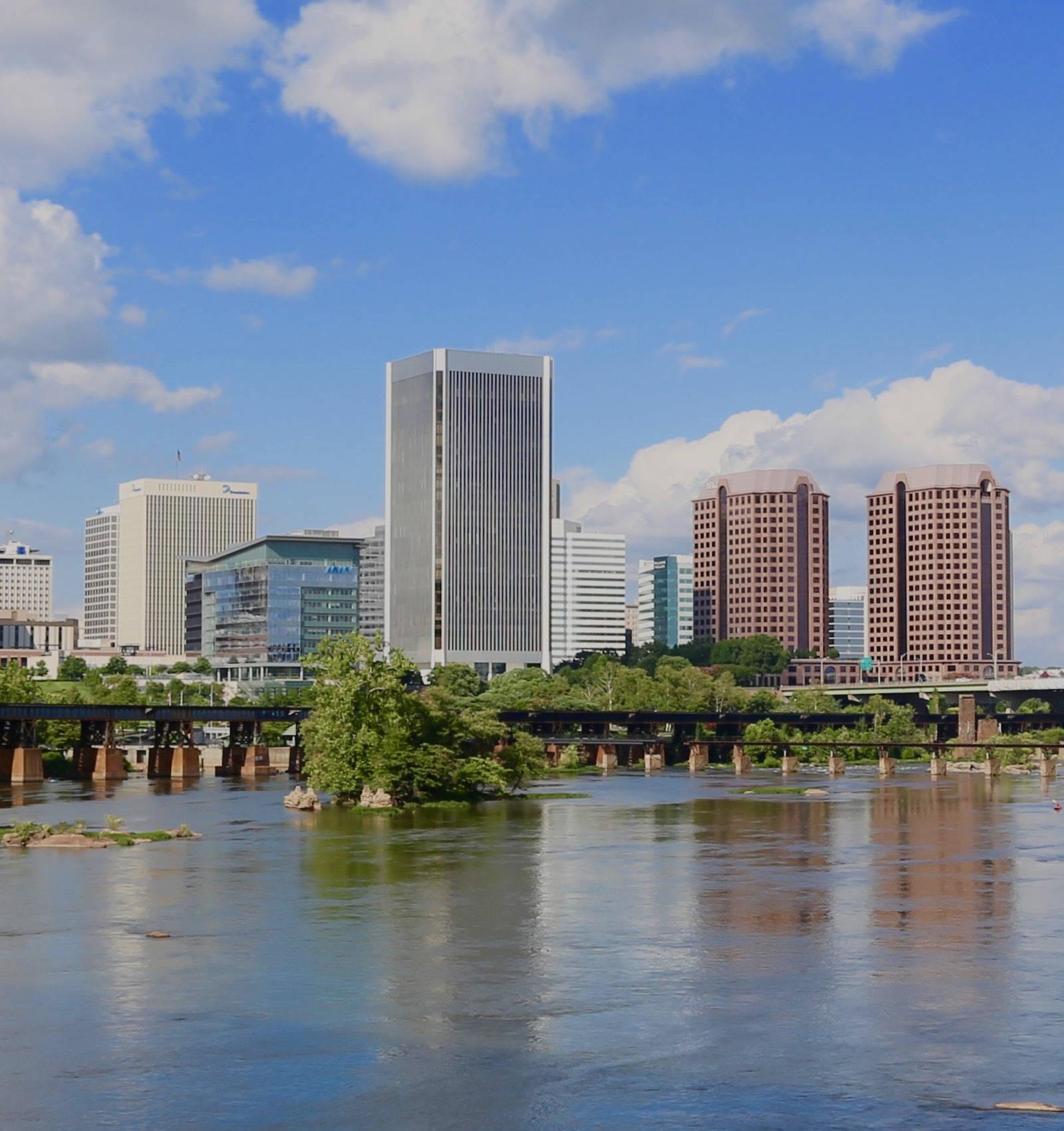 Richmond skyline with James River