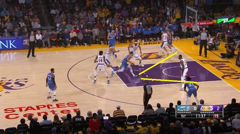 Javale can`t recover in defense