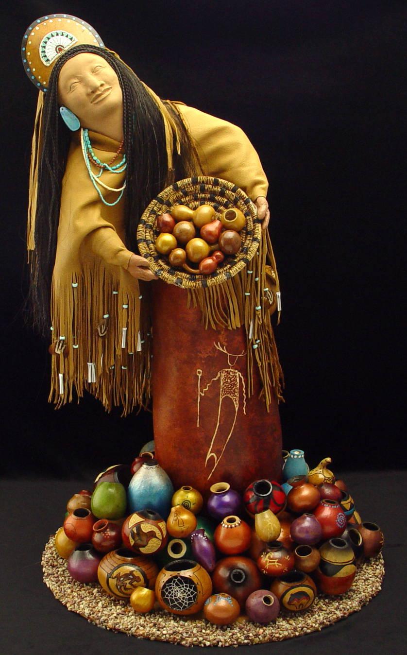 Gourd art by Pamala Redhawk