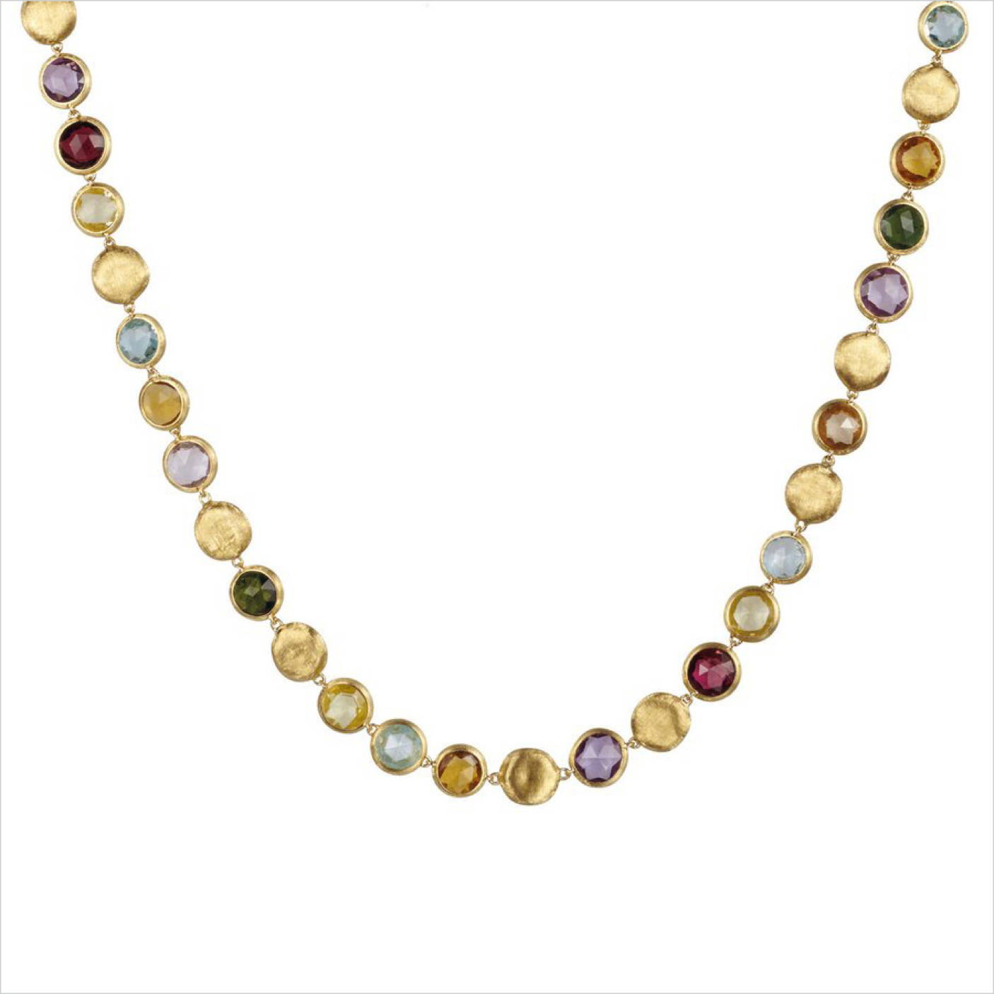 Marco Bicego 18K Yellow Gold and Mixed Gemstone Collar Necklace