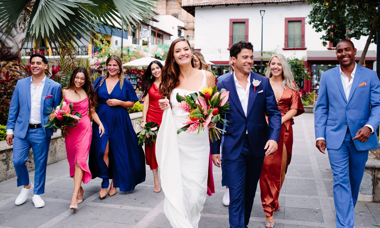 Real wedding couple white dress Puerto Vallarta