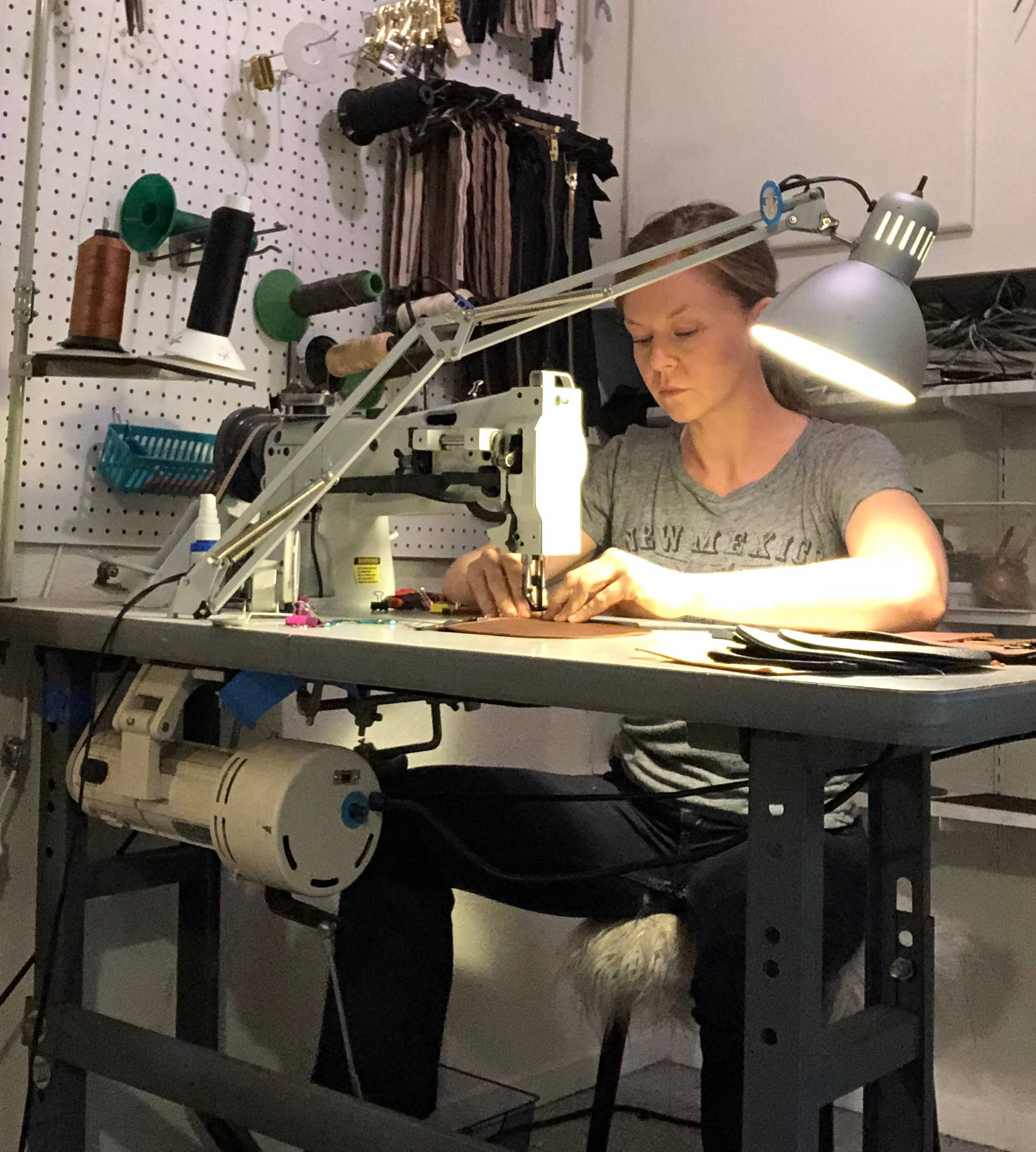 Hatton Henry Owner/Operator Vanessa Vaught at the Sewing Machine