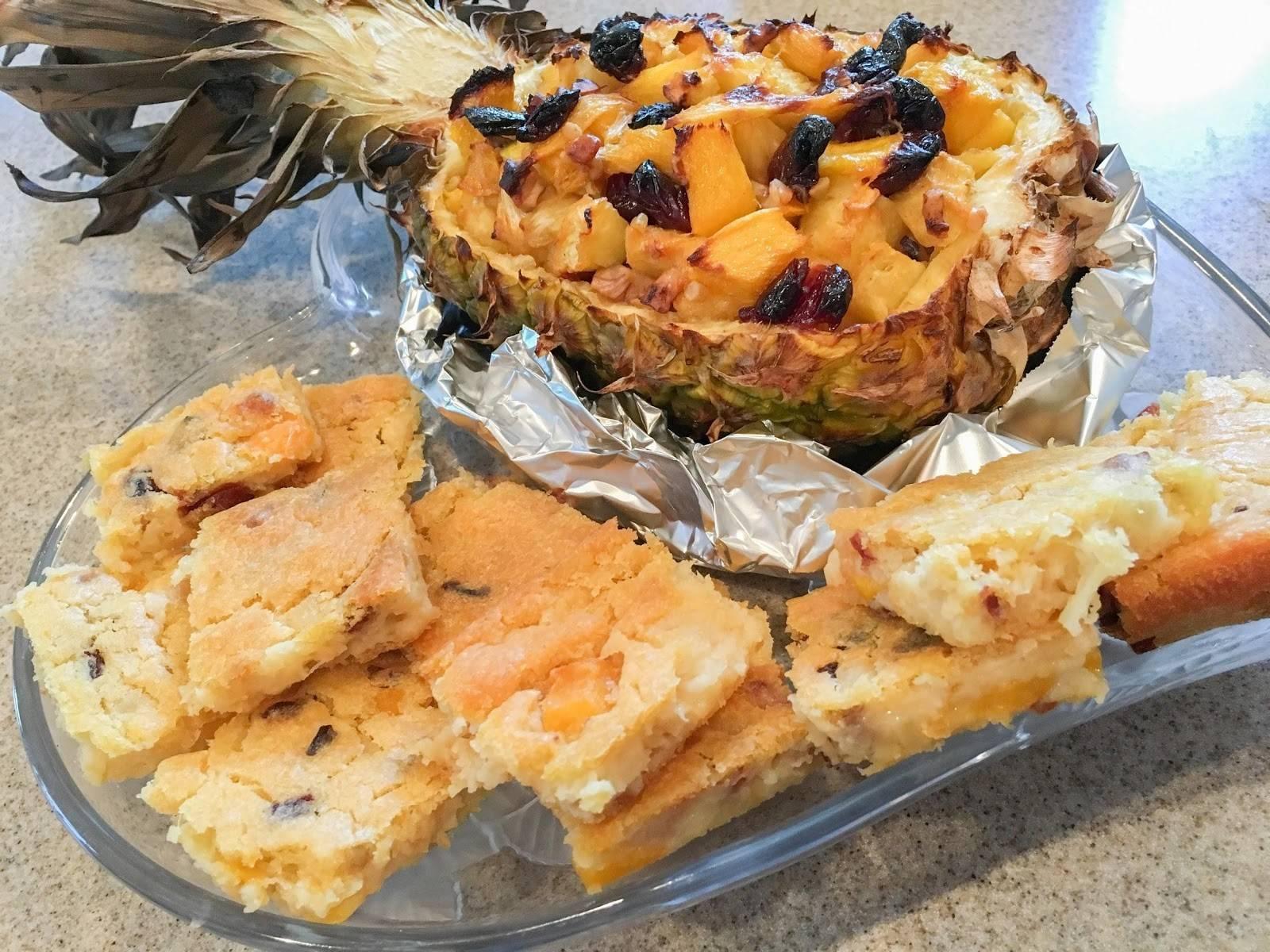 roasted pineapple mango cake