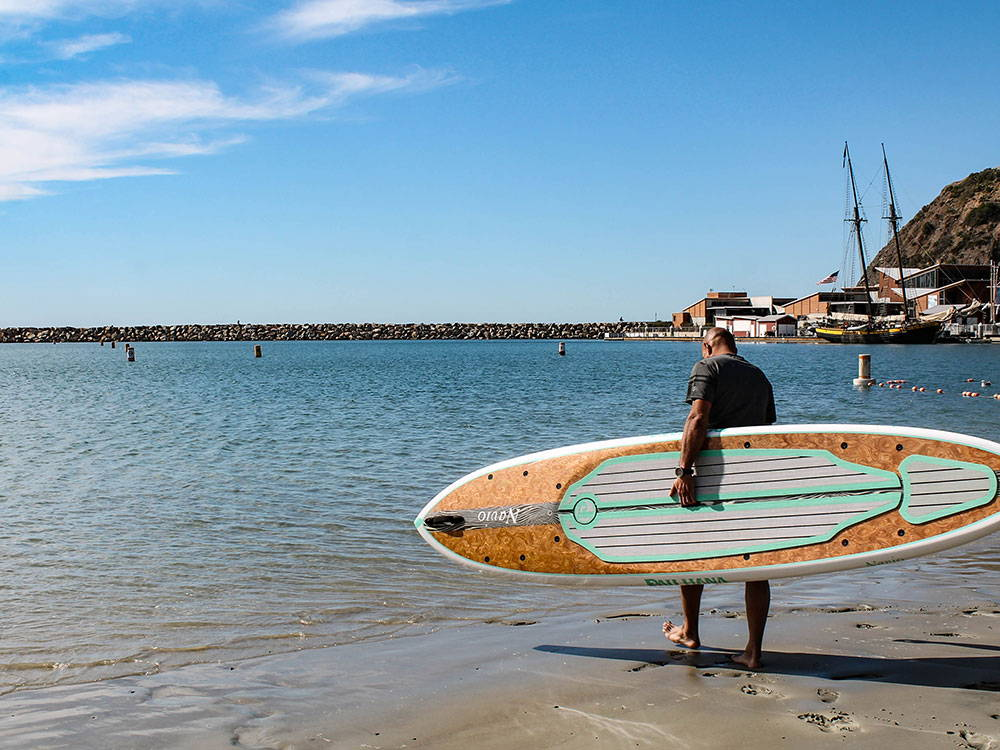 This is the best keel hull paddle board. Pau Hana Stand Up paddle board
