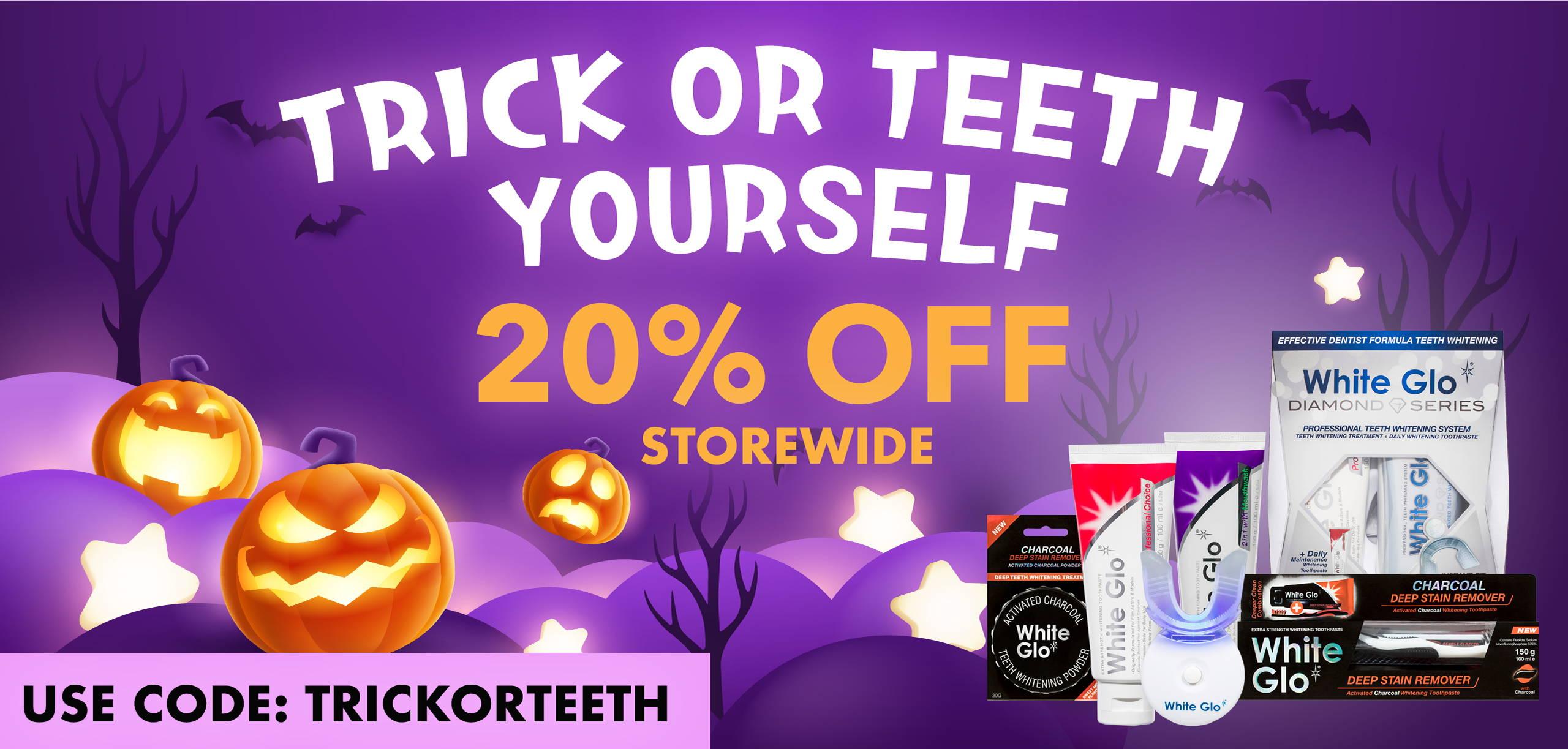 Trick or Teeth Banner Desktop