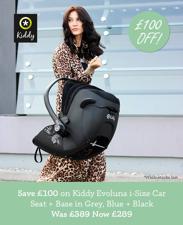 £100 off Kiddy Evoluna i-Size Car Seat + Base